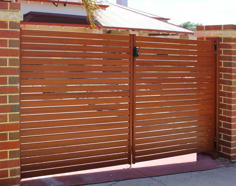 Wood Look Aluminium Fences In Perth Wa From Crazy Pedros